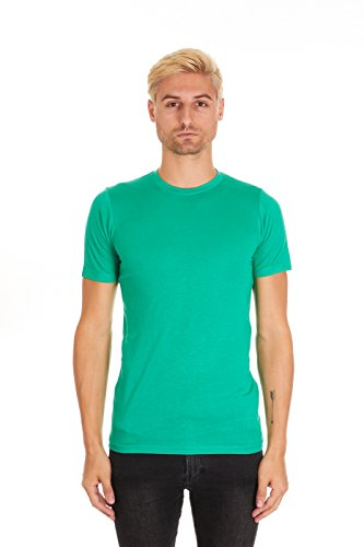 Pacific Men's Fitted Soft Rayon Performance Short-Sleeve Crew-Neck T-Shirt (Small, Deep Mint)