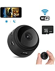 Wireless Spy Camera, Mini Hidden Camera Wi-Fi 1080P HD Wireless Portable Cam with Night Vision Motion Detection, Latest Covert Security Camera Indoor Outdoor (with 32G Memory card)