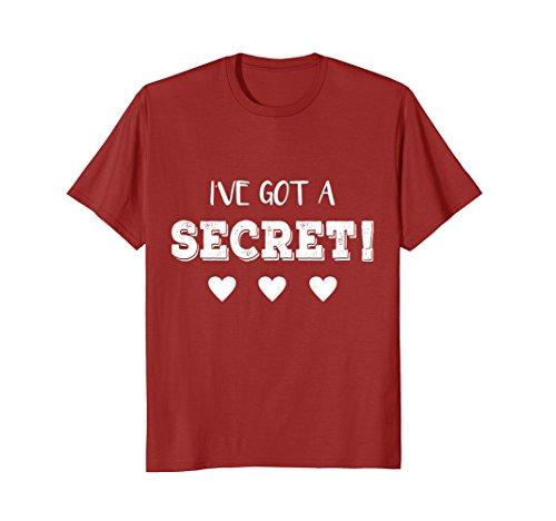 Mens I've Got a Secret I'm Going to be a Big Cousin Funny T shirt Medium Cranberry