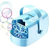 Kenlaimi-Bubble Machine-Automatic-Bubble Blower-Kids Adults,Two Blowing Speed Levels up to 2000+ Bubbles,Powered by Plug-in