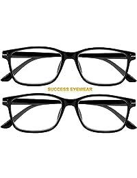 2 pares de gafas de lectura clásicas antirreflejos para computadora, gafas de lectura de calidad, cómodas, para hombres y mujeres