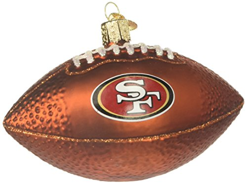 (Old World Christmas Glass Blown Ornament San Francisco 49Ers Football)