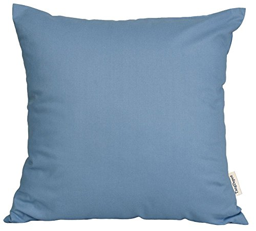 TangDepot174; Thin Canvas Pillow shams, 100% Cotton – Handmade – Many Colors and Sizes Available – (26×26, Blue)
