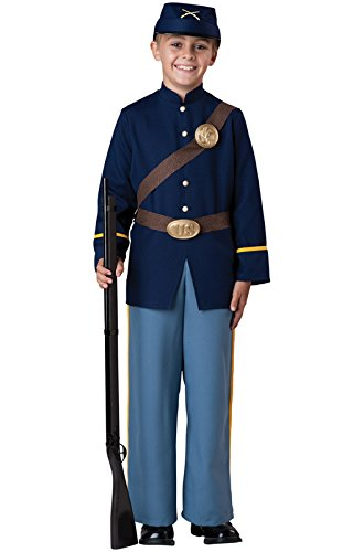 - InCharacter Costumes Civil War Soldier Costume, Size 8/Medium