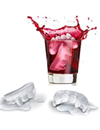 Get 5x Novelty TPR Household Party Tooth Shaped Freeze Ice Mold Tray-Red offer