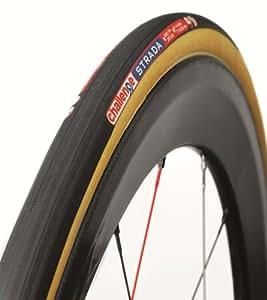 Challenge Strada Road Tubular Tire (Black/Brown, 24-mm)
