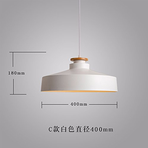 Bedroom Wood 400 (XHOPOS HOME Pendant Light Shade Industrial Hanging Ceiling Lamp Chandelier Wood Japanese 400X180mm White For Living Room Restaurant Bedroom Lighting)