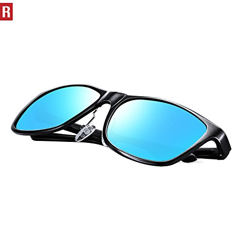17d69d687f0 ROCKNIGHT Driving Polarized Wayfarer Sunglasses Men Women Metal Frame  Sunglasses Al-Mg Lightweight UV Protection