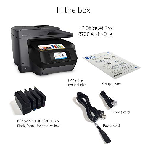 HP Pro 8720 All-in-One Wireless Printer Mobile Ink & Replenishment