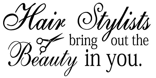 Wall DecorInspiration Art Wall Decal Hair Salon Stylists The Beauty Quote Vinyl Shop Decor (FA49) (28