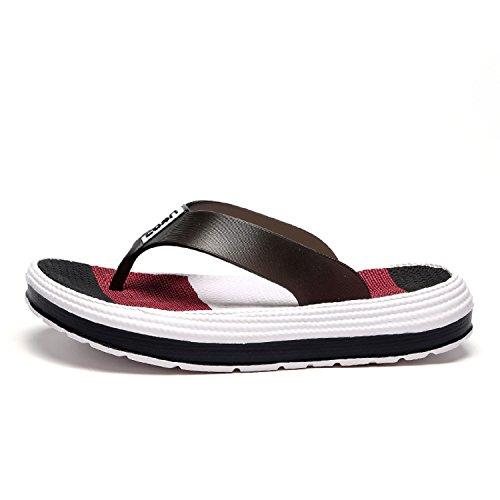 Ligeras Flops Mujer mastery Chanclas Playa Piscina De Negro Flip Verano H Sandalias Zapatos vFqEwv