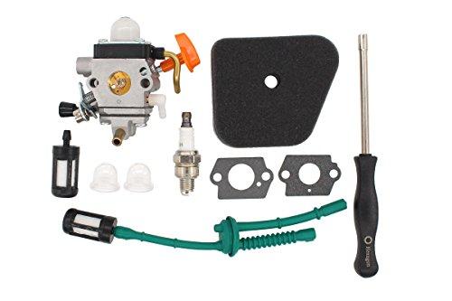 MOTOKU Carburetor Air Filter Spark Plug Carb Adjustment Tool Tune Up Kit for Stihl FS87 FS90 FC95 FS100 FS110 HL100 HL90 KM90R String Hedge Trimmer Weedeater FS110RX Weed Eater by MOTOKU