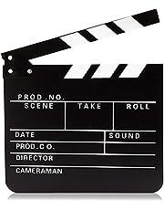 Clapper Board Prop for Film, Movie Director Slate (Black Clapboard, 1 Pack)