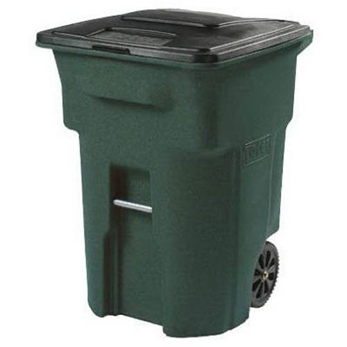 toter-025596-r1grs-residential-heavy-duty-2-wheeled-trash-can-with-attached-lid-96-gallon-greenstone