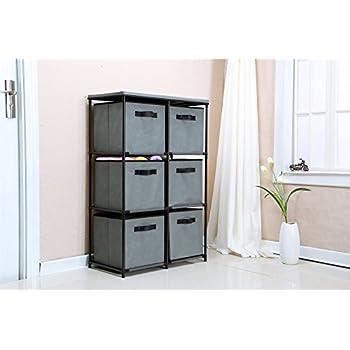 Amazon.com: Furinno 11159EX/BR Multipurpose Storage Cabinet w/4 ...