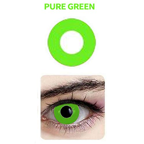 Multi-Color Attractive Fashion Cosplay Party Eyes Lenses (A Pair) (Green) ()