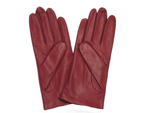 Fownes Women's Cashmere Lined Red Metisse Lambskin Leather Gloves 8/XL