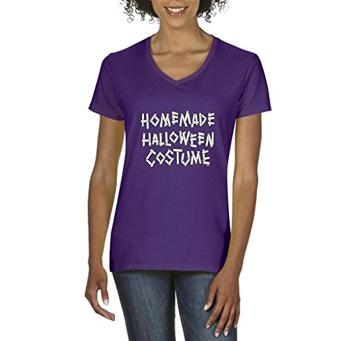 Blue Tees Homemade Halloween Costume Fashion Party People Best Friends Gift Couples Gifts Women V-Neck T-Shirt Tee Clothes Medium (Homemade Costume Dog Halloween)