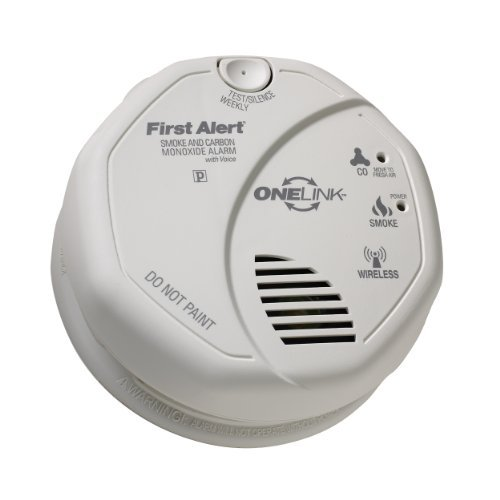 First Alert SCO501CN-3ST (Series SCO500) ONELINK Battery Operated Combination Smoke and Carbon Monoxide Alarm with Voice Location Color: White Model: SCO500 Tools & Home Improvement