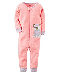 Carter's Little Girls' 1-Piece Footless Snug Fit Cotton Pajamas