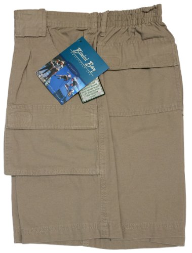 Bimini Bay Outfitters Outback Hiker Cotton Cargo Short (2-Pack) (34, Khaki)