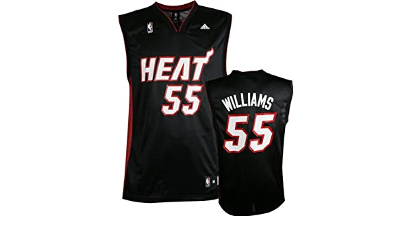 adidas Jason Williams Jersey Negro Replica # 55 Miami Heat Jersey, Negro: Amazon.es: Deportes y aire libre