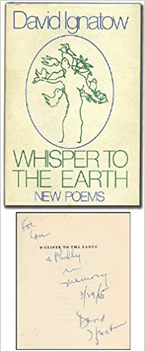 Whisper to the Earth: New Poems: David Ignatow: 9780316414944