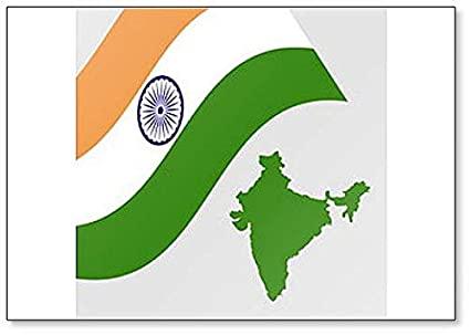 Amazon.com: Indian Flag And Map Clic Fridge Magnet ... on indian print with flag, indian map with key, indian man with flag, india flag,