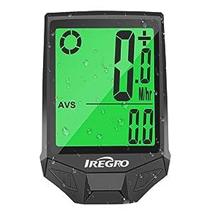 IREGRO Computer da Bicicletta, Grande Display Digitale LCD Contachilometri Bici Impermeabile Computer per Bici, 18 Funzioni per Riconoscere la velocità e la Distanza Attuali in Tempo Reale 4 spesavip