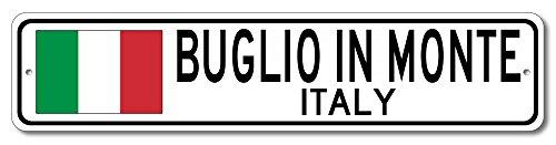 The Lizton Sign Shop Buglio In Monte, Italy Aluminum Italian Flag Sign, Italy Custom Flag Sign - 6