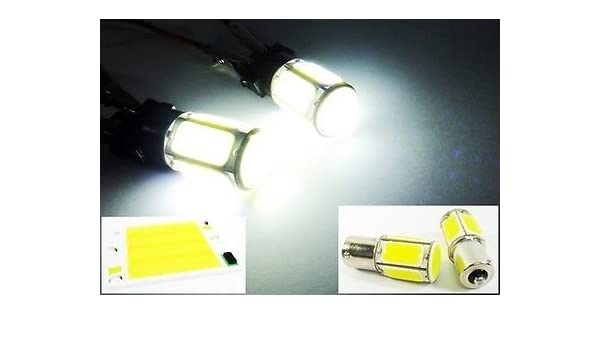 2x HID White 1156 BA15S 382 P21W COB LED Car Turn Signal Reverse Light Bulb 12V