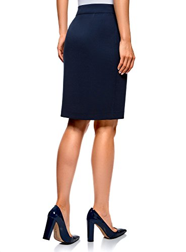 Bleu oodji Droite 7900n Coupe clair Fermeture avec Femme Collection Jupe Tnx8PHT
