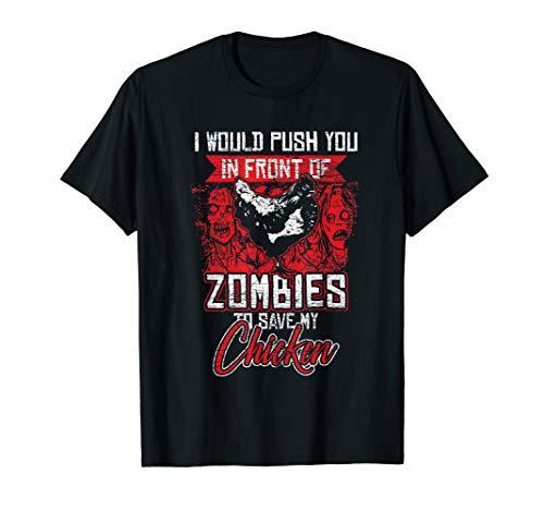Zombie Chicken T-Shirt Halloween Costume Farm Farmer -
