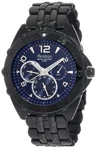Armitron Caballero 20/4664BLTI Black Ion-Plated Stainless-Steel Multi-Function Blue Dial Sport Reloj