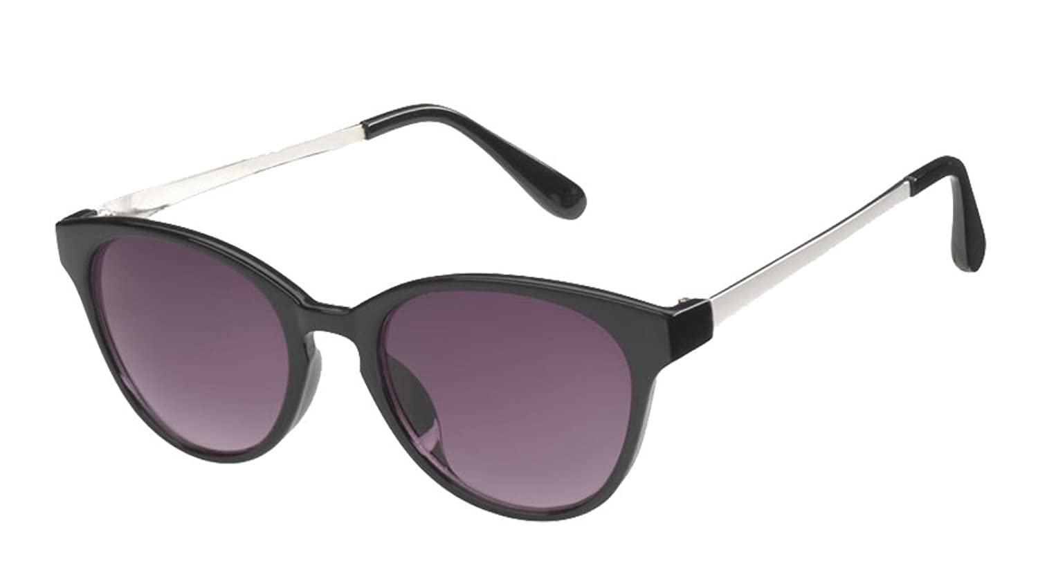 """Destin"" Women's Oversized Cat-Eyes Sunglasses 100% UVA UVB Protection by ICU (Black)"