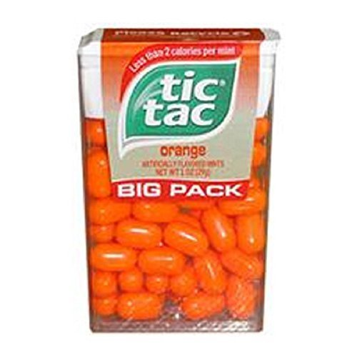 Tic Tac Orange Flavored Mints 1 Ounce (Pack of 12)