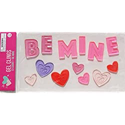 Holiday Valentine's Day ''Be Mine'' Gel Window Clings - 13 Piece