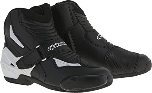 Alpinestars SMX-1R Men's Street Motorcycle Boots - Black/White / - Smx Shoes 1 Riding