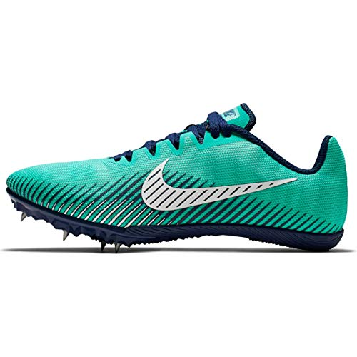 Nike Women's Zoom Rival M 9 Track Spikes Hyper Jade/Blue Void/Summit White Size 8 M US ()