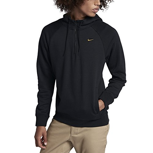 (Nike mens M NK SB HOODIE ICON HZ 929147-011_L - BLACK/DARK GREY)