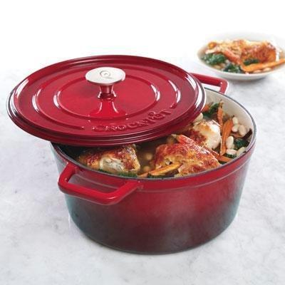 Crock-Pot Elmington Cast Iron Dutch Oven, 5 quart, Gradient Red (Non Stick Crock Pot compare prices)