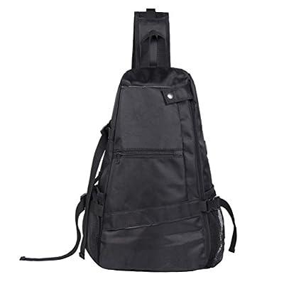Enjoee Yoga Mat Bag Sling Backpack Adjustable Cross-body Bag for Woman Man,Purple