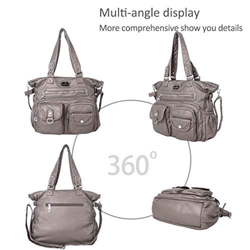 bags Shoulder hobo bags Women casual pockets DORIS multi amp; crossbody Gray NICOLE tn16qw0f