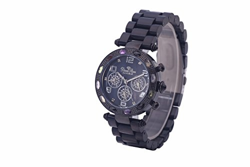 WATCH WOMAN ''ZANZIBAR'' BLACK CHRONOGRAPH - Black, Black Polymer by Diamstars