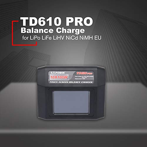 Wikiwand G.T Power TD610 Pro 10A 100W Balance Charger for LiPo Life LiHV NiCd NiMH US by Wikiwand (Image #2)