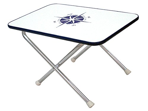 Marine Rectangular Folding Deck Table for Boat- Anodized Aluminum- Five Oceans