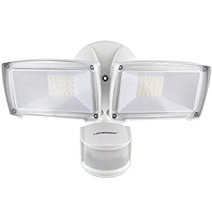 LEPOWER 2500LM LED Security Light, 28W Outdoor Motion Sensor Light, 6000K, IP65 Waterproof, Adjustable Head Flood Light for Entryways, Stairs, Yard and Garage