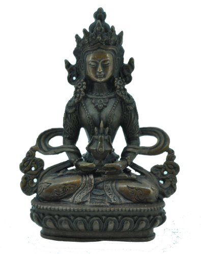 Amitayus Statue, Tibetan Buddha Statue, Antique Finishing
