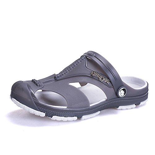 Sommer Männer Sandalen, Sandstrand Löcher, Schuhe, Sogar Schuhe, Farbe: Blau, Schwarz, Grau,Grau,Eu44