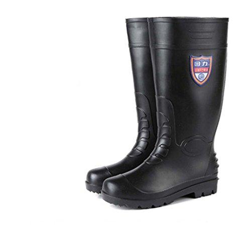 Bottes Chaussures 43 Imperméable L'eau Style Travail Hautes Size De Hommes Bottes Hommes Bottes Dérapant Noir Chaussures Anti Tube De Chaussures De 1 Imperméables Pluie qYwBWOz